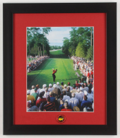 Tiger Woods 13x15 Custom Framed Photo Display with Official Masters Pin at PristineAuction.com
