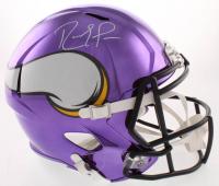 Randy Moss Signed Minnesota Vikings Full-Size Chrome Speed Helmet (Beckett COA) at PristineAuction.com