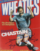 "Brandi Chastain Signed ""Wheaties"" 8x10 Photo Inscribed ""USA"" & ""Dreams Do Come True!"" (Beckett COA) at PristineAuction.com"