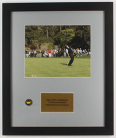Phil Mickelson 16x19 Custom Framed Photo Display with Masters Pin at PristineAuction.com