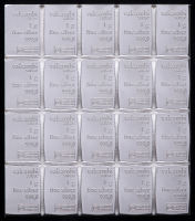 Lot of (20) 1 Gram Silver Valcambi Mint Bullion Bars (Uncut) at PristineAuction.com