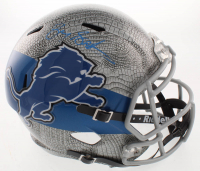 Barry Sanders Signed Detroit Lions Full-Size Hydro Dipped Speed Helmet (Beckett COA) at PristineAuction.com