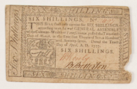 1777 Six Shillings Pennsylvania Colonial Currency Note at PristineAuction.com