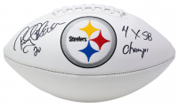 """Rocky Bleier Signed Pittsburgh Steelers Logo Football Inscribed """"4x SB Champs"""" (JSA COA) at PristineAuction.com"""