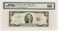 Star Note - 1963-A $2 Two-Dollar Red Seal United States Legal Tender Bank Note (PMG 66) (EPQ) at PristineAuction.com
