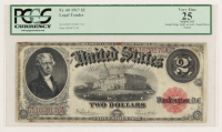 1917 $2 Two Dollar Legal Tender Large Size Bank Note Bill (PCGS 25) at PristineAuction.com