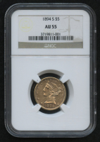 1894-S $5 Liberty Head Half Eagle Gold Coin (NGC AU 55) at PristineAuction.com
