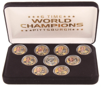 Set of (9) Pittsburgh Steelers World Champions 24K Gold Plated & Colorized Pennsylvania Quarters at PristineAuction.com