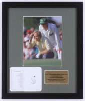 """Jack Nicklaus """"The Masters"""" 16x19 Custom Framed Photo Display with Official Agusta National Scorecard at PristineAuction.com"""