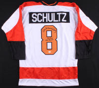 """Dave """"The Hammer"""" Schultz Signed Jersey Inscribed """"472 PIMS NHL Record"""" (JSA COA) at PristineAuction.com"""