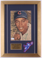 Ernie Banks Signed Chicago Cubs 13x18 Custom Framed Magazine Photo Display (JSA COA) at PristineAuction.com