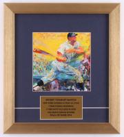 "LeRoy Neiman ""Mickey Mantle"" 12.5x14 Custom Framed Print Display at PristineAuction.com"