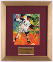 "LeRoy Neiman ""Joe DiMaggio: The Yankee Clipper"" 13x15 Custom Framed Print Display at PristineAuction.com"