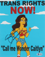"""Caitlyn Jenner Signed """"The Simpsons"""" 8x10 Photo (Beckett COA) at PristineAuction.com"""