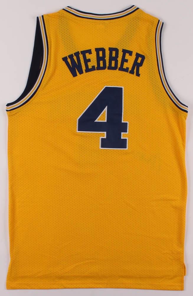 Chris Webber Signed Jersey Jsa Coa Pristine Auction