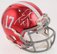 Tua Tagovailoa Signed Alabama Crimson Tide Chrome Speed Mini Helmet (Beckett COA) at PristineAuction.com