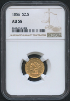 1856 $2.50 Liberty Head Gold Coin (NGC AU 58) at PristineAuction.com