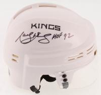 "Marcel Dionne Signed Los Angeles Kings Mini-Helmet Inscribed ""HOF 92"" (MAB Hologram) at PristineAuction.com"