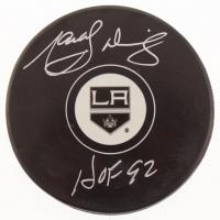 "Marcel Dionne Signed Los Angeles Kings Logo Hockey Puck Inscribed ""HOF 92"" (MAB Hologram) at PristineAuction.com"