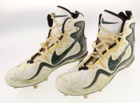 Pair of Reggie White Green Bay Packers Game-Used Nike Cleats (White LOA) at PristineAuction.com