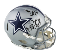 "Ezekiel Elliott Signed Cowboys Full-Size Authentic On-Field Speed Helmet Inscribed ""Feed Me!"" (Radtke COA) at PristineAuction.com"