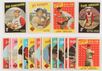 Lot of (30) Baseball Cards with 1959 Topps #312 Don Newcombe, 1959 Topps #270 Gil Hodges, 1958 Topps #483 Luis Aparicio All Star, 1959 Topps #435 Frank Robinson, 1958 Topps #489 Jackie Jensen All Star (Trimmed) at PristineAuction.com
