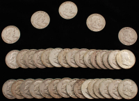 Complete Circulated Collection of (35) 1948-63 Frankllin Silver Half-Dollars at PristineAuction.com