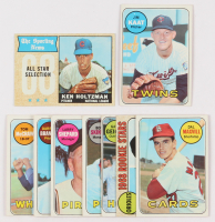 Lot of (9) Baseball Cards with 1968 Topps #380 Ken Holtzman All Star, 1969 Topps #290 Jim Kaat at PristineAuction.com