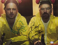 "Bryan Cranston & Aaron Paul Signed ""Breaking Bad"" 11x14 Photo (PSA COA) at PristineAuction.com"