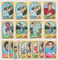 Lot of (15) 1970 Topps Football Cards with #1 Len Dawson, #10 Bob Griese, #30 Bart Starr, #70 Gale Sayers,  #80 Fran Tarkenton at PristineAuction.com
