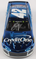 Kyle Larson Signed NASCAR #42 Credit One Bank 2019 Camaro ZL1 - Color Chrome - 1:24 Premium Action Diecast Car (PA COA) at PristineAuction.com