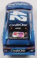 Kyle Larson Signed NASCAR #42 Credit One Bank 2019 Camaro ZL1 - Color Chrome - 1:24 Premium Action Diecast Car (PA COA) at PristineAuction.com