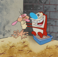 """Nickelodeon's """"The Ren & Stimpy Show"""" LE 10.5x12.5 Animation Serigraph Cel at PristineAuction.com"""