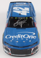Kyle Larson Signed NASCAR #42 Credit One Bank Patriotic Race Version 2018 Camaro ZL1 - 1:24 Premium Action Diecast Car (PA COA) at PristineAuction.com