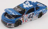 Kyle Larson Signed NASCAR #42 Credit One Bank Patriotic Race Version 2018 Camaro ZL1 - 1:24 Premium Action Diecast Car (PA COA) at PristineAuction.com