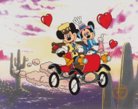 "Walt Disney Mickey Mouse & Minnie Mouse ""Nifty Nineties"" LE 11x14 Animation Serigraph Cel at PristineAuction.com"