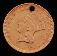 1874 $1 One Dollar Gold Coin (Atlered) at PristineAuction.com