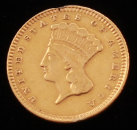 1873 $1 One Dollar Gold Coin (Altered) at PristineAuction.com