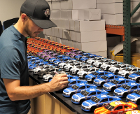 Kyle Larson Signed NASCAR #42 Credit One Bank Patriotic 2018 Camaro ZL1 - 1:24 Premium Action Diecast Car (PA COA) at PristineAuction.com