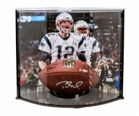 Tom Brady Signed NFL Official Game Ball with Curve Display Case (TriStar Hologram) at PristineAuction.com