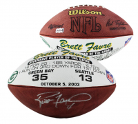 "Brett Favre Signed Green Bay Packers ""Offensive Player of the Game"" Logo Football (Radtke COA) at PristineAuction.com"