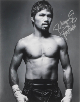 "Manny Pacquiao Signed 11x14 Photo Inscribed ""Pacman"" (Pacquiao COA) at PristineAuction.com"