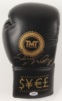"Floyd Mayweather Jr. Signed ""TMT"" Boxing Glove (PSA COA) at PristineAuction.com"