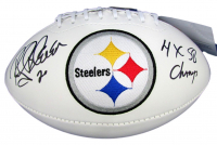 "Rocky Bleier Signed Pittsburgh Steelers Logo Football Inscribed ""4x SB Champs"" (JSA COA) at PristineAuction.com"