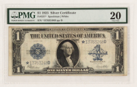 Star Note - 1923 $1 One Dollar Blue Seal Large Size Silver Certificate Bank Note (PMG 20) at PristineAuction.com