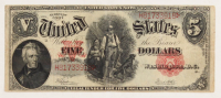 1907 $5 Five Dollars Legal Tender Large Bank Note at PristineAuction.com