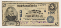1902 $5 Five Dollars U.S. National Currency Large Bank Note - The Palmetto National Bank of Columbia, South Carolina at PristineAuction.com