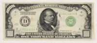 1928 $1000 One Thousand Dollars Federal Reserve Note at PristineAuction.com