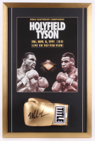 Mike Tyson Signed 20.5x31 Custom Framed Boxing Glove Display (JSA COA) at PristineAuction.com