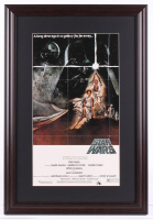 """Star Wars"" 17.5x25.5 Custom Framed Movie Poster Display at PristineAuction.com"